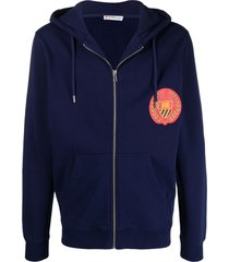 bel-air athletics crest logo print hoodie