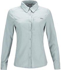 camisa rosselot q-dry melange azul piedra lippi
