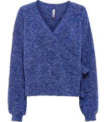 maglione incrociato (blu) - rainbow