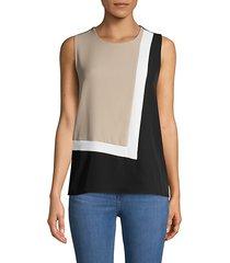 colorblock sleeveless top