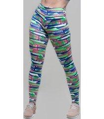 legging fusô abstratic neon jmaleg feminina