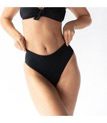 sardinia dół bikini z wysokim stanem czarny