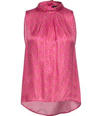 3367 - prosa top blouse mouwloos roze sand