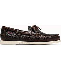 sebago scarpe portland docksides premium colore marrone