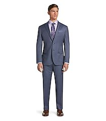 1905 collection herringbone slim fit men's suit with brrr°® comfort - big & tall clearance by jos. a. bank