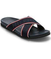 hilfiger webbing sandal shoes summer shoes sandals blå tommy hilfiger