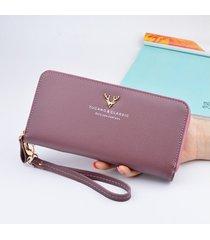 billetera mujeres- cartera larga monedero-púrpura