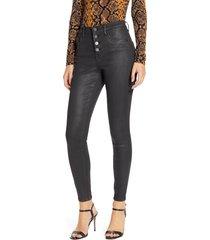 women's blanknyc the great jones coated high waist ankle skinny jeans
