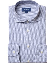 men's big & tall eton contemporary fit neat floral dress shirt, size 18.5 - blue