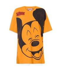 camiseta feminina estampada - laranja