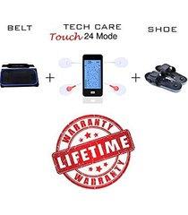 tens unit device muscle stimulator massager set with fat burner belt and reflexo