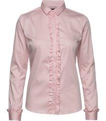 tilda flounce shirt overhemd met lange mouwen roze mos mosh