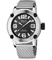 relógio everlast 50mm aço masculino