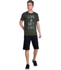t-shirt live guess - verde - masculino - dafiti