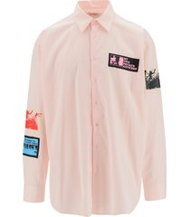 oversize shirt with patches