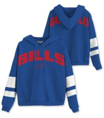 authentic nfl apparel buffalo bills women's sideline striped fleece hoodie