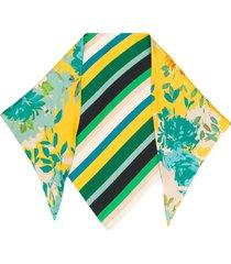 gianluca capannolo contrast panel silk scarf - neutrals