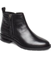 d bettanie d shoes boots ankle boots ankle boots flat heel svart geox
