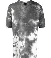thom krom tie-dye print short-sleeve t-shirt - white