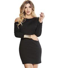 envío gratis vestido lizz negro  para mujer croydon