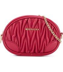 monnalisa oval shoulder bag - red