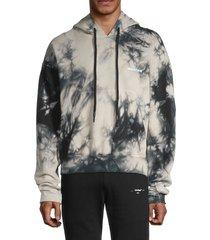 off-white men's tie dye contour hoodie - beige - size s
