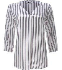 blusa a rayas verticales color blanco, talla l