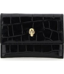 alexander mcqueen envelope skull card holder pouch