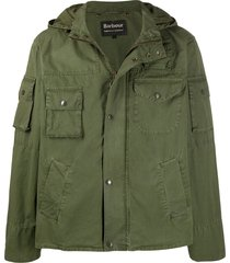 barbour short parka jacket - green