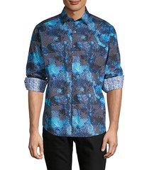 classic-fit mixed-print shirt