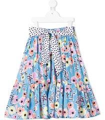 raspberry plum sena a-line skirt - blue