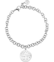 bracciale albero della vita in acciaio e cristalli per donna
