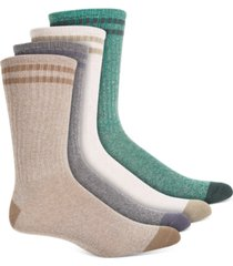 sun + stone men's 4-pk. double stripe crew socks