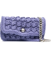 bottega veneta hand-crocheted shoulder bag - purple