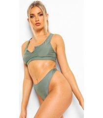 essentials string bikini broekje met hoge taille, salie