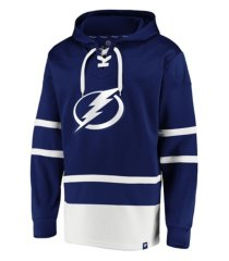 majestic tampa bay lightning men's power play lace up hoodie
