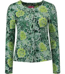 blazer flower print groen