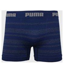 cueca puma boxer listrada azul