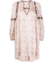 isabel marant étoile floral print shift dress - neutrals