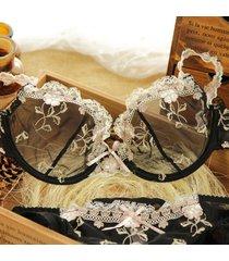 bra set women underwear ultra-thin lingerie plus size 32 34 36 38 40 a b cd cups