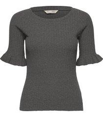liza top t-shirts & tops short-sleeved grijs odd molly