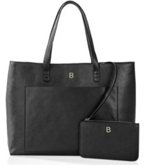 cathy's concepts personalized vegan saffiano leather tote and clutch set