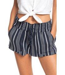 women's roxy oceanside stripe shorts