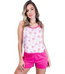pijama mvb modas blusinha alça e short curto feminino