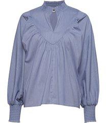 blouse blouse lange mouwen blauw sofie schnoor