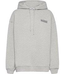 software isoli hoodie trui grijs ganni