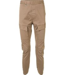 sophnet. slip-on slim-fit trousers - brown