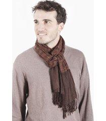 bufanda marrón beige spiga 31