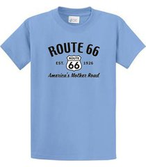 route 66 novelty mens printed tee shirts regular to big and tall sizes port & co