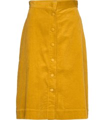 pia cord skirt knälång kjol gul twist & tango